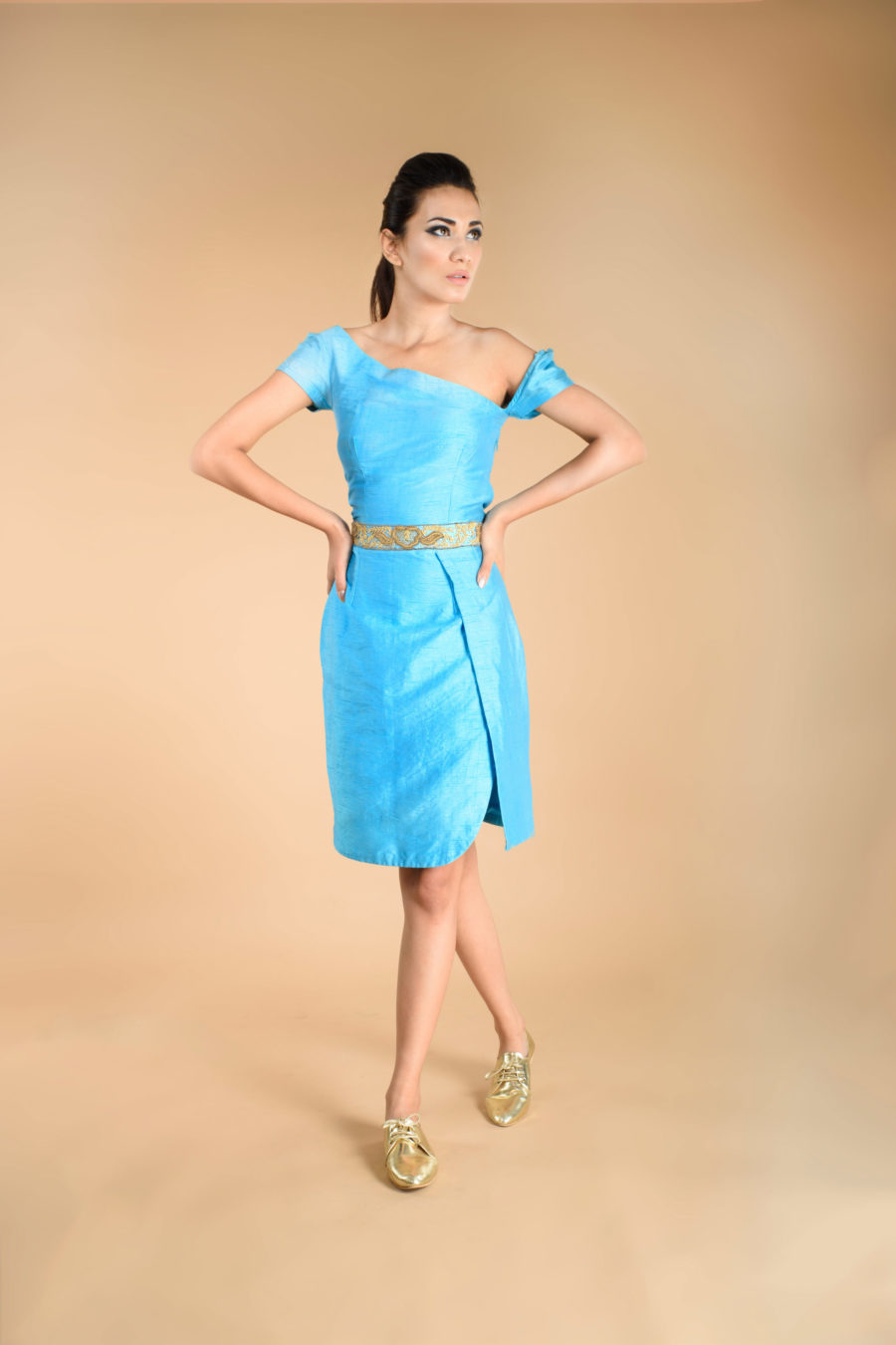 Sky Blue Envelope Dress