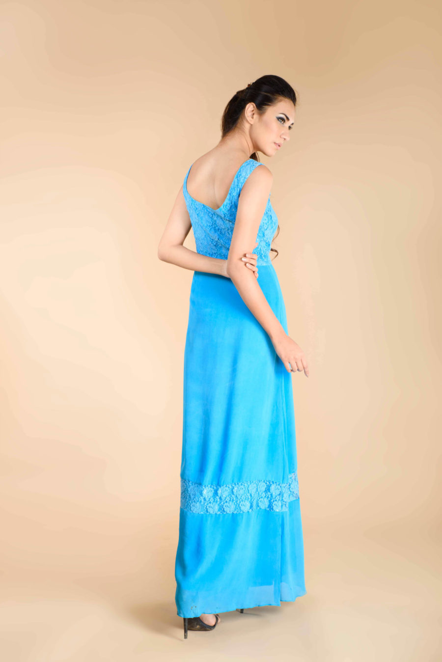 Sky Blue gown with lace