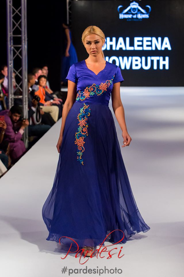 Silk Blue Gown