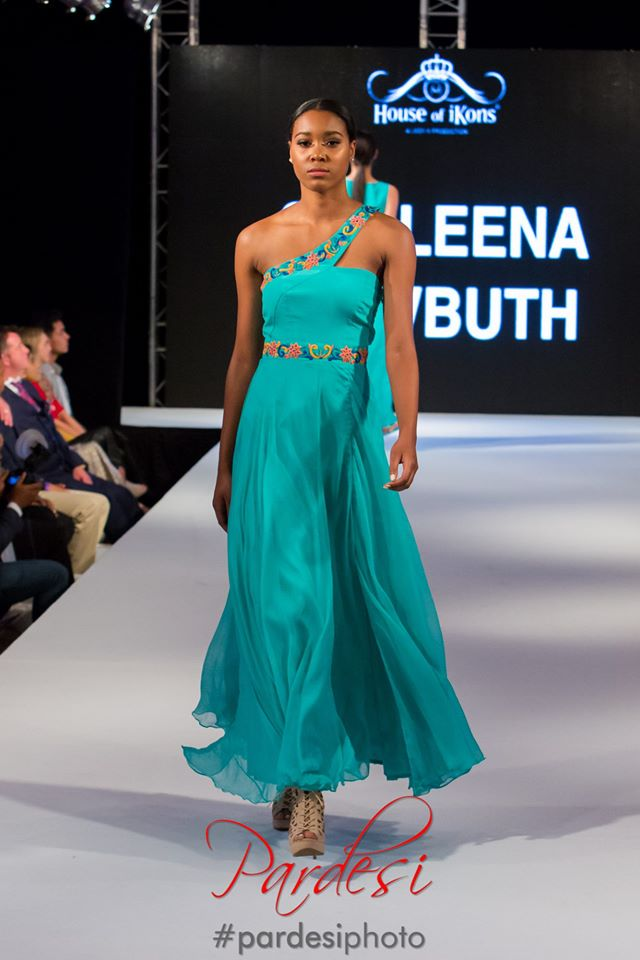 Mint Green Gown One Shoulder